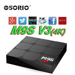 Wholesale V3 Tv - [Genuine] M9S V3 4K Rockchip RK3229 Quad Core Android 6.0 TV BOX 1GB 8GB KD17.3 4K H.265 Support OTA Set Top Box