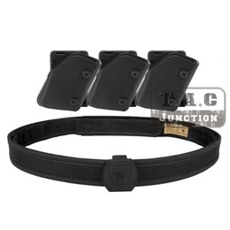Wholesale Ipsc Shooting Belt - Wholesale- IPSC USPSA IDPA Competition High Speed Shooting Inner & Outer Belt w  3x Fast Draw Pistol Magazine Pouch Mag Carrier Holster