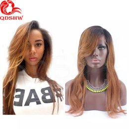 Wholesale Virgin Indian Hair 1b 33 - Ombre Human Hair Wig With Bang 1B 33 Ombre Human Hair Wigs Peruvian Virgin Glueless Ombre Wigs For Black Women With Baby Hair