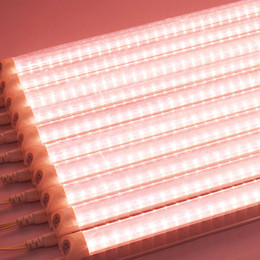 grow lights for greenhouse 2018 - Full Spectrum LED Grow Light T8 Tube led lamps For plants 18W 36W 120CM hydroponics Systems Greenhouse Flowering Plant growing lamp Lighting