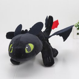 """Wholesale Toothless Soft Toy - In Stock 13"""" 33cm How to Train Your Dragon 2 Toothless Night Fury Plush Toys Soft Stuffed Dolls Super Christmas Gifts"""
