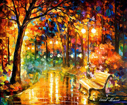Wholesale Knife Oil Paintings - Diy projects interior design art under one umbrella date passion flamenco tango dancers foggy park walkers famous palette knife oil painting
