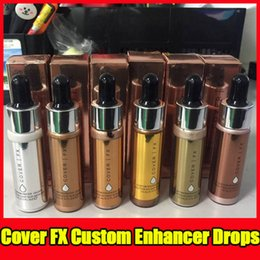 Wholesale Nail Powder Liquid - 2017 Newest Cover FX Custom Enhancer Drops Face Highlighter Powder Makeup Glow 6 colors 15ml liquid Highlighters Cosmetics free shipping