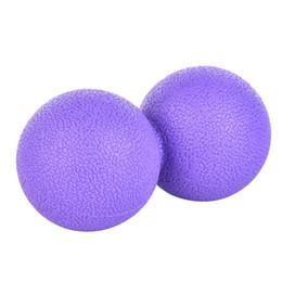 Gomma elastica a base di arachidi Yoga Massage Ball Rollers Torna a trigger Trigger Point Terapia sportiva Muscolo Release Accisa Mobilità da