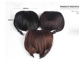 Wholesale Short Hair Hairband - New Women Hair Front Bangs Clip Short Braided Fringe Hairband Hair Accessories 3F5006