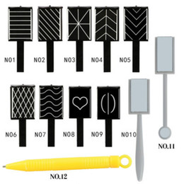 Wholesale Magnet Gel Polish - 11 Pieces set Cat Eye Magnet Pen 3D Magnet Stick Magnetic Drawing Vertical Stick for Nail Gel Polish Magical Nail Tool free shopping