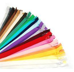 Wholesale pcs garment accessories - 100 pcs Mix Color Nylon Coil Zippers Tailor Sewing Tools Garment Accessories 9 Inch