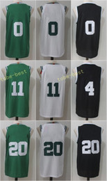 Wholesale Nk Men - 2017-18 New Season Jerseys NK 11 Kyrie Irving Jersey 20 Gordon Hayward 0 Jayson Tatum Association White Icon Green Stitched Embroidery Logo