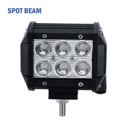 "Wholesale Cree Off Road Lights - 4"" inch 18W Cree LED Work Light Bar Lamp for Motorcycle Tractor Boat Off Road 4WD 4x4 Truck SUV Spot Flood 12v 24v"