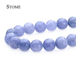Wholesale Aquamarine Movie - Natural Aquamarine Stone Round Loose Beads Gemstone 4-12MM For Jewelry Making S-061 Stome