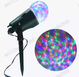 Wholesale Christmas Lightings - NEW Led Rotating Projection Light with Flame Lightings Kaleidoscope Spotlight Outdoor Christmas Projector Light Halloween Night Light MYY