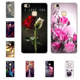 Wholesale 3d Huawei Phone Case - Soft TPU Case for Huawei P9 Lite P8Lite Cases Silicon 5.2 Inch Back Cover for Huawei P9 Lite Phone Case Luxury 3D Relief Printing Bag