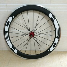 Wholesale Carbon Alloy Wheelset - Free shipping alloy brake surface 50mm carbon wheelset for road bike 700c carbon clincher wheels 23mm wide with ceramic bearing hubs wheels