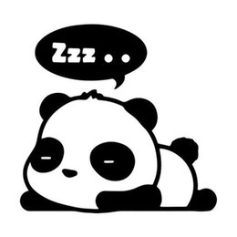 Wholesale Panda Sleeping - Wholesale 20pcs lot with Products Vinyl Decal Car Stickers Glass Stickers Scratches Sticker Jdm Cute Panda Sleeping ZZZ Stickers