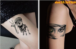 Wholesale Tattoo Sticker Wholesale Supply - Halloween Tattoo Sticker Body Stickers Women Men Halloween Gifts Tattoos Waterproof Skull Printed Decals Party Festivals Supplies Hot Sale