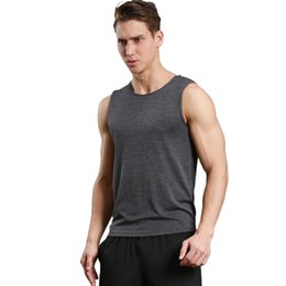 Wholesale Training Vest Sports - Sports vest fitness series running training fast dry breathable simple solid wild
