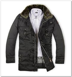 Wholesale Male Neck Collar - 2016 peuterey coat multi-pocket belt fur collar male Men turn-down collar down jacket