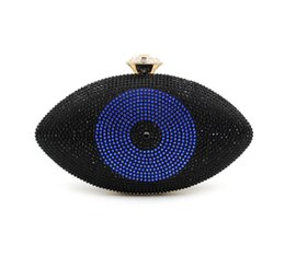 Wholesale Big Diamond Clutch - Big Eye Bags Eye Shape Crystal Diamond Wedding Purses And handbags Evening Bag Women Party Wedding Handbags