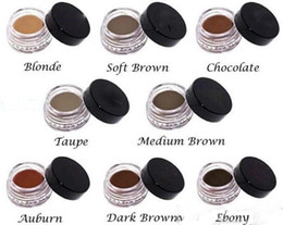 Crema al cioccolato online-Disponibile! Crema per le sopracciglia Pomata Medium Brown Waterproof Makeup Sopracciglio 4g Blonde Chocolate Dark Brown Ebano Auburn Medium Brown TALPE + regalo