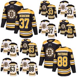 Wholesale Zdeno Chara - 2018 New Brand Men Boston Bruins 37 Patrice Bergeron 88 David Pastrnak 40 Tuukka Rask 33 Zdeno Chara 63 Brad Marchand Hockey Jerseys