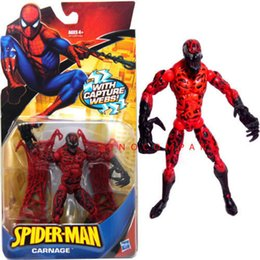 Wholesale Action Man Hasbro - NEW With Box 6.25in Spider-Man Classic CARNAGE capture webs legends By Marvel Universe Hasbro Action Figure Hot Birthday Gift For Boy