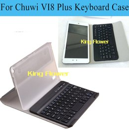 Wholesale Touchpad Bluetooth Keyboard Case - Wholesale-Original Wireless Bluetooth Keyboard Touchpad Case For CHUWI Vi8 Plus,Hot Bluetooth Keyboard Case For CHUWI Vi8 Plus + 4 gifts