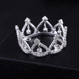 Wholesale Tiaras For Sale - 2017 Promotion Sale Trendy Zinc Alloy Tiaras Mini Rhinestone Round Tiara Crown for Newborn - Baby Photo Prop