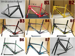 Wholesale Bh Road - T800 UD 3K Road bicycle BH G6 carbon road frame with BB30 BB68 Size XS S M L free shipping