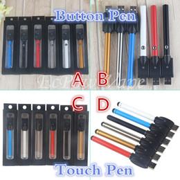 Wholesale Slim Batteries - Vape pen ecig vaporizer 510 bud touch battery mini slim open button batteries for ce3 a3 cartridge atomizer vapes