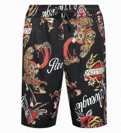 Wholesale Mens Cotton Beach Shorts - 2017 Tiger Snake Men's Herren Shorts Summer Mens Beach Shorts Cotton Casual Male Swimming Short Pants homme Brand Clothing