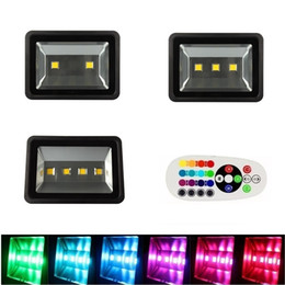 Wholesale Outdoor Led Lights Color Control - 200W 300W 400W RGB Led Flood Lights With Remote Control color change Synchronize outdoor led floodlights waterproof for landscape lighting