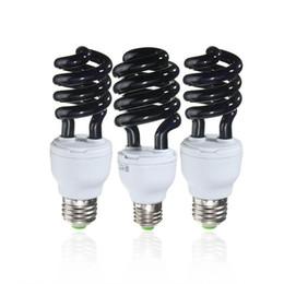 Wholesale Ultraviolet Lighting - Wholesale-Hot Sale E27 15 20 30W Spiral Enegy Saving UV Ultraviolet Fluorescent Black Light CFL Light Bulb Violet Lamps 220V 300-400nm