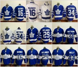 Wholesale Wholesale Leafs Jerseys - Hockey Jerseys Cheap Toronto Maple Leafs Jersey Men's #16 Mitchell Marner #34 Auston Matthews #29 William Nylander Jerseys Wholesale