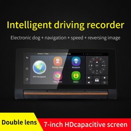 Wholesale Dash Video Camera Gps - Car DVR Camera GPS Bluetooth Dual Lens Rearview Mirror Video Recorder FHD 1080P Automobile DVR Mirror Dash cam Support SIM