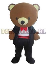 Wholesale Mascot Costume Wedding - Wedding bear mascot costume EMS free shipping, cheap high quality carnival party Fancy plush walking Dress bear mascot adult size.