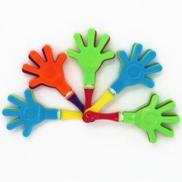 """Wholesale Plastic Toy Makers - 3.5"""" Plastic Hand Clappers Concert Clap Toys for Party Music Evening Game Football Game Noise Maker Toy 10pcs   lot ZJ-001"""