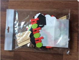 Wholesale Bag Booth - 31pcs bag funny toys DIY Mask Photo Booth Props Mustache On A Stick Wedding Birthday Party