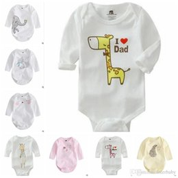 Wholesale Elephant Romper - Baby INS Romper Animal Forest Long Sleeve Cotton One Pieces Kids Spring Cute Elephant Clothes Jumpsuits Bebe Infantil Baby Clothing J402