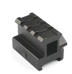 Anelli tattici di campo online-Tactical 3 Slot Ring 20mm Riser Weaver Picatinny Rail Base Adapter Mount Rifle Scope Pistola Pistola Ad Aria compressa Airsoft Caccia