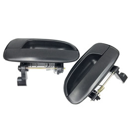 Wholesale Black Exterior Doors - For Hyundai Outside Exterior Door Handle Rear Right + Left Smooth Black Set New