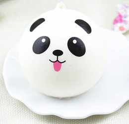 Wholesale Panda Jumbo Bun - 10cm kawaii soft scented squishy jumbo panda slow rising squeeze bun toy phone charm squishies bread