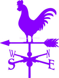 Wholesale Farm Stickers - Wholesale 20pcs lot Automobile and Motorcycle Vinyl Decal Car Stickers Glass Stickers Scratches Sticker Weathervane Rooster Farm Modern
