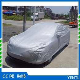 Wholesale flame logo - YENTL Full Car Cover Breathable UV Protection Anti dust and scratches flame retardant shields Multi size for more car put logo outdoor