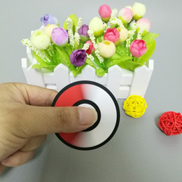 Wholesale Button Style Silicone - Silicone Material EDC Pokeball Hand Spinner Game handle button style fidget spinner toy Fingertip Gyro Decompression toy DHL free