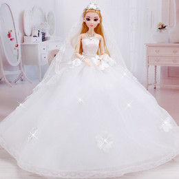 Wholesale Toy Christmas Princesses - 2017 Fashion 1PC 43cm Big Humanoid Doll Christmas Gift Romantic Wedding With Clothes Accessories Toy girls dolls Princess WW01