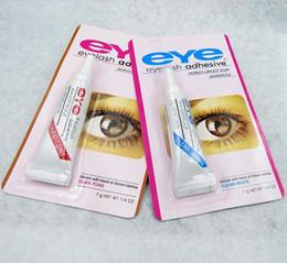Wholesale Duo Eyelash Adhesive Glue - 100pcs lot DUO Water-proof Eyelash Adhesives (glue) 9G White BlacK Make Up Tools Professional 200pcs DHL Free Shipping