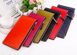Wholesale Wallet Slim Woman - Wholesale Fashion Slim Long Designer Women Wallets Coin Purse Girls Clutch Bag Multiple Cards Holder Walet Money Pocket Vallet Free Shipping
