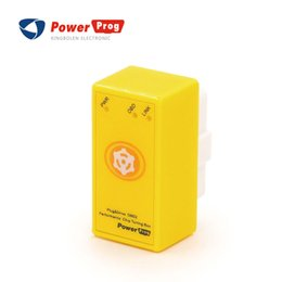 Wholesale Bmw Driving - PowerProg Chip Tuning Box With reset button Car Chip Tuning Box Plug and Drive same as NitroOBD2 More Power   More Torque