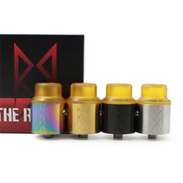 Canada Le Recoil RDA 24 MM 304 Acier Inoxydable Cigarette Électronique Clone Reconstructible Gouttes Atomiseurs 3 Couleurs Peek isolateurs adapter 510 Mod Offre