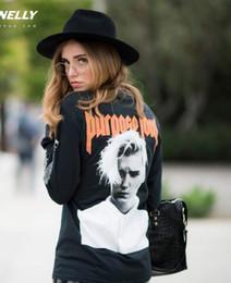 Wholesale Sublimation Clothes - Wholesale- New Women Men Justin Bieber sweatshirt 3D Sublimation print fleece Sweatshirt Crewneck Plus Size Fashion Clothing Sweats Jumper